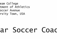 Why write a letter to a college soccer coach to help get recruited?